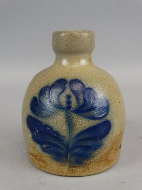 Early American Small Salt Glazed Jug