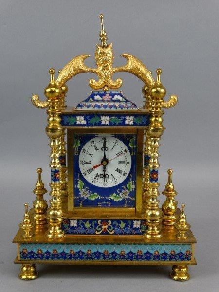 Beautiful Cloisonne Mantle Clock