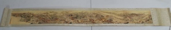 Chinese Scroll Painting - Cityscape