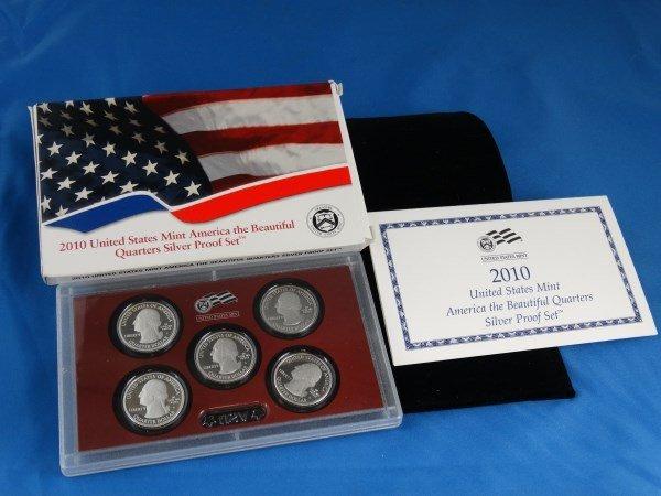 2010 U.S. America the Beautiful Silver Quarter Set