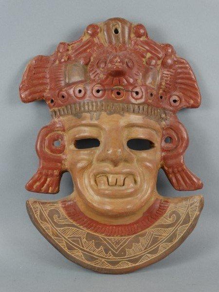 Mayan Themed Pottery Mask