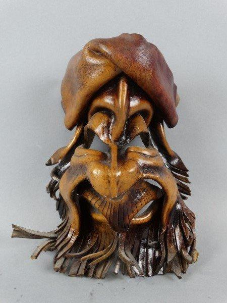 Carved & Formed Leather Mask