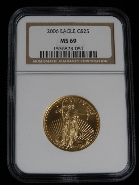 2006 Gold Eagle $25 Coin - Graded MS 69
