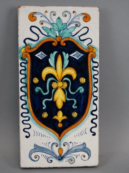 Italian Hand Painted Pottery Tile