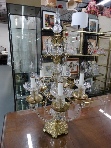 Table Top Crystal Chandelier Lamp