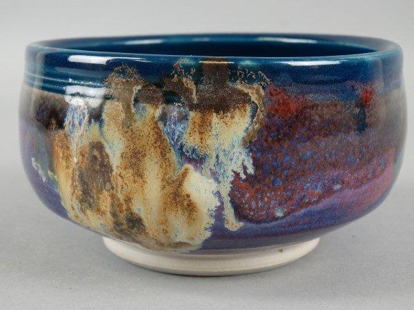 Signed Glazed Pottery Bowl - 2