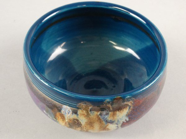 Signed Glazed Pottery Bowl - 3