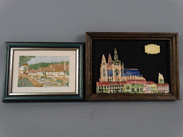 Lot of 2 Small Framed Works of Art