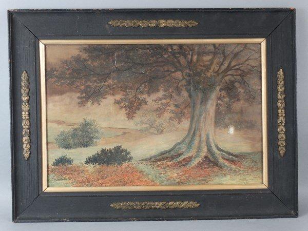 SHS - Antique Framed Watercolor - Landscape