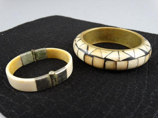 Lot of 2 Bracelets - Bone