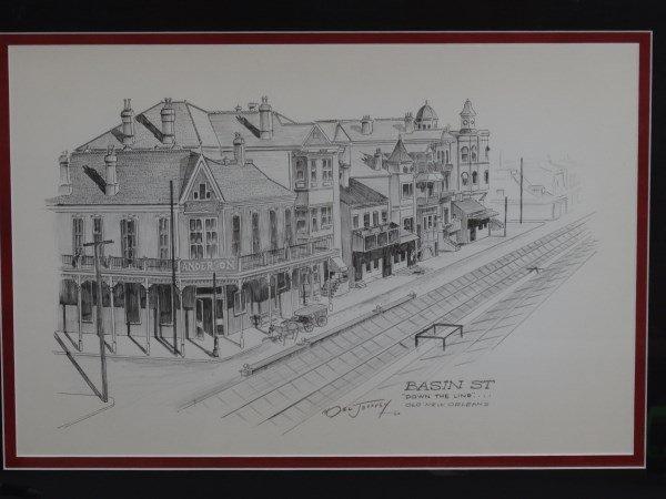 NOEL JEFFREY - Basin Street  Signed Pencil