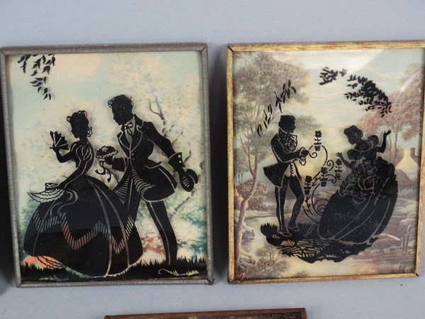 Lot of 5 Curved Glass Silhouettes - 2
