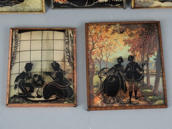 Lot of 5 Curved Glass Silhouettes - 3