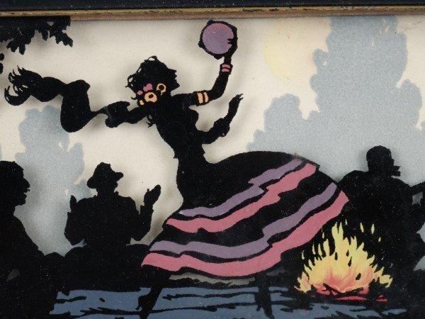 Playful framed Silhouette - Gypsy Camp - 2