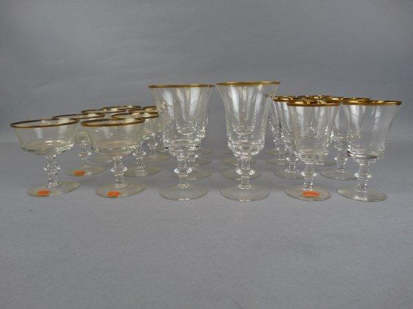 Gorham Gold Trimmed 24 pc. Glass Set - 2