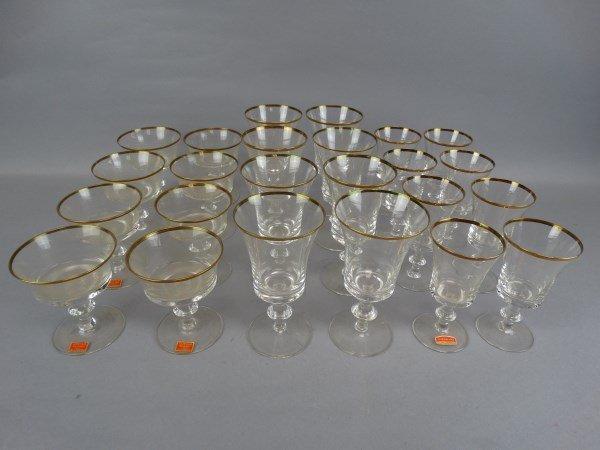 Gorham Gold Trimmed 24 pc. Glass Set - 3
