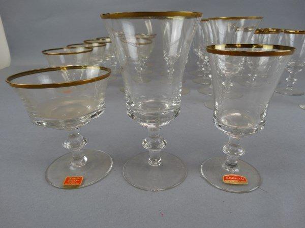 Gorham Gold Trimmed 24 pc. Glass Set - 4