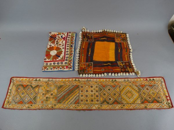 Lot of 3 Antique Indian Textiles