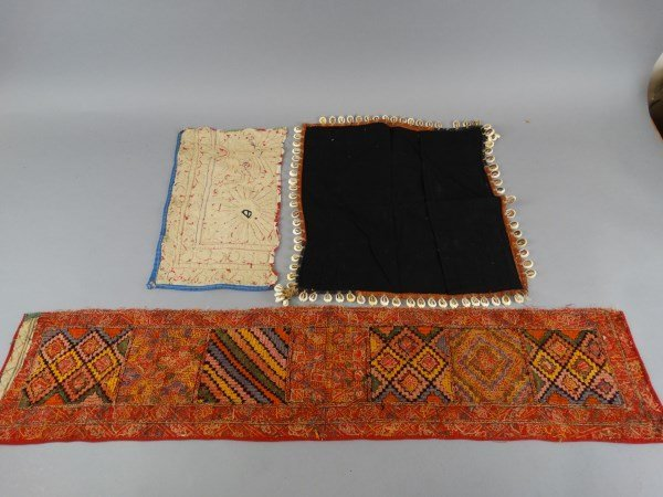 Lot of 3 Antique Indian Textiles - 4