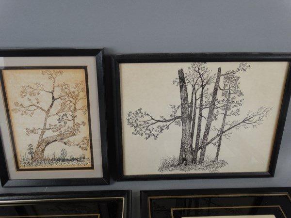 Lot of 2 Pen & Inks & 2 Framed Prints - 3