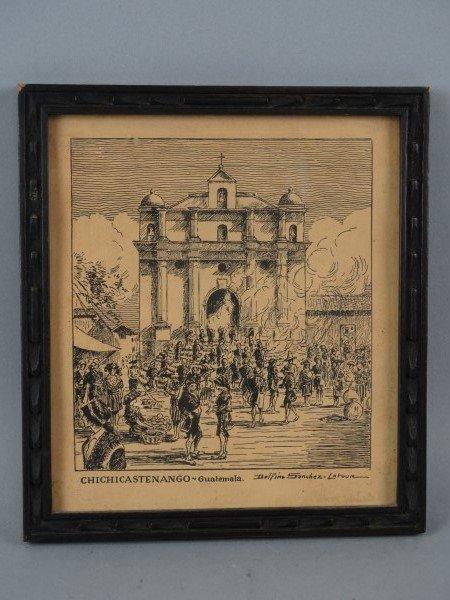 Vintage Engraving by DELFINO SANCHEZ LATOUR