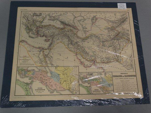 Antique Map : Imperia Persarum et Macedonum 1860's