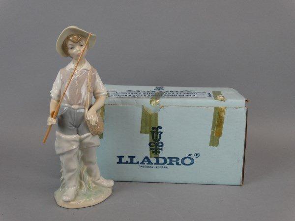 Lladro - Going Fishing Figurine : 4809 w/ Box