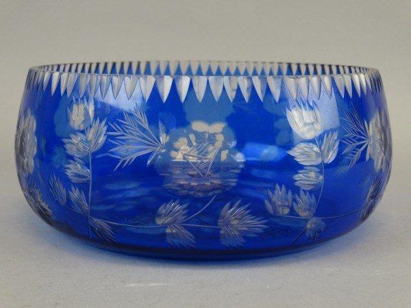 Cobalt Cut-to-Clear Bowl