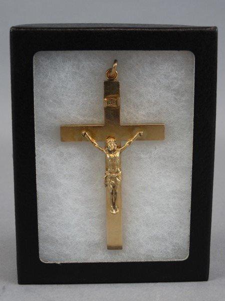 14K Gold Vintage Crucifix Pendant