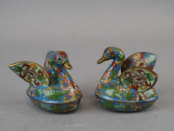 Pair of Chinese Cloissone Ducks