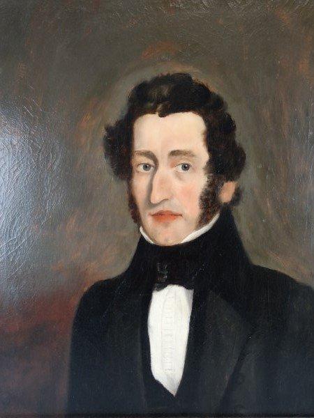 19c. Oil on Canvas Painting - Portrait