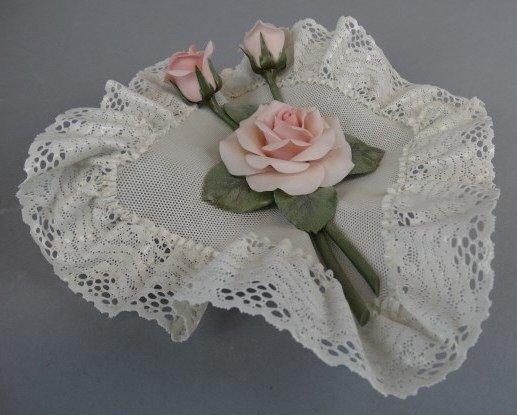 Lladro Caprichos Square Handkerchief with Rose