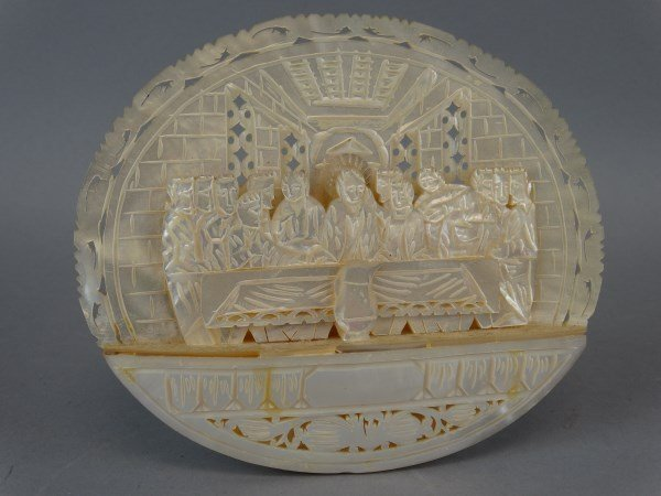Carved Abalone Shell - Last Supper