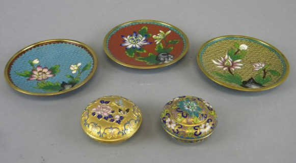 Lot of 5 Cloisonne & Champleve Items
