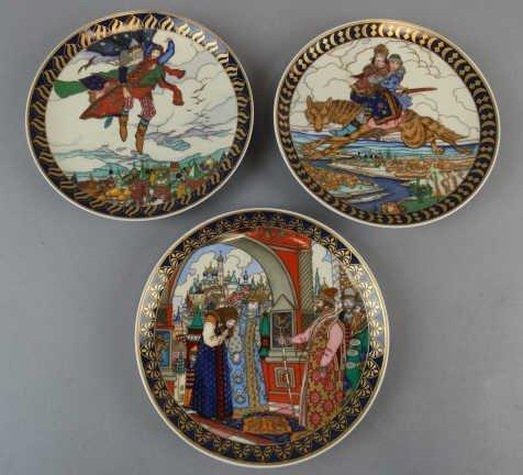 Lot of 3 Villeroy & Boch Russian Fairy Tale Plates