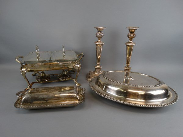 5 pc. Silverplate Serving Lot