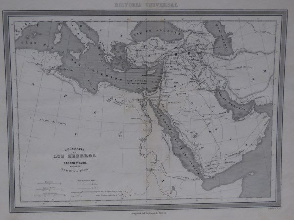 Antique Map : Northern Africa & Arabia - 1854