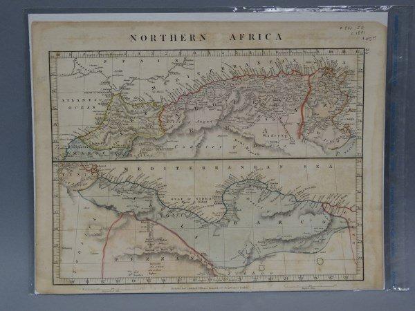 Antique Map - Northern Africa & Mediterranean 1841