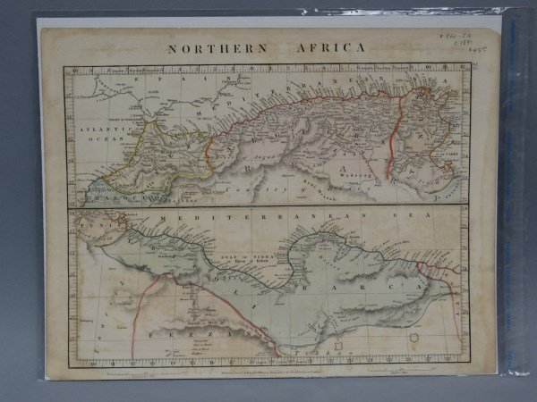 Antique Map - Northern Africa & Mediterranean 1841