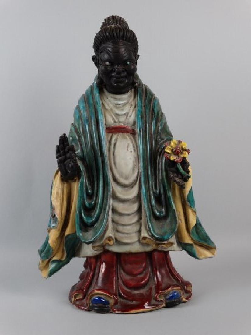 19c. Chinese Tri-Glazed Figure