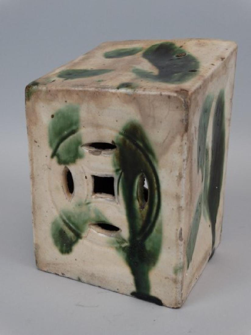 Chinese Green Porcelain Pillow