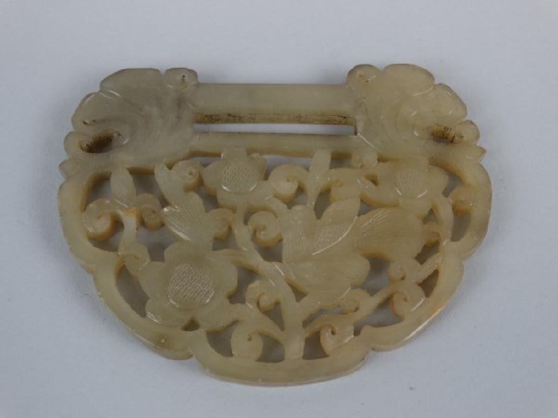 Highly Carved Jade Child's Pendant