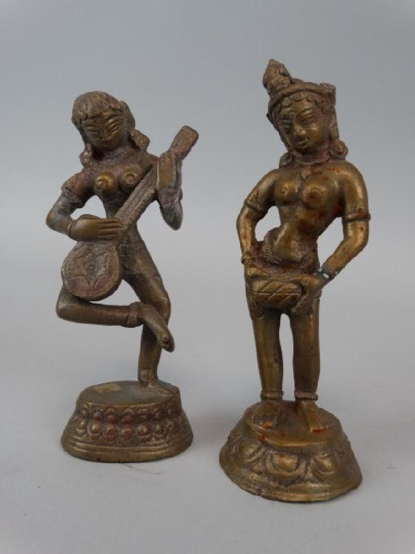 Pair of Chinese Bronze Figures