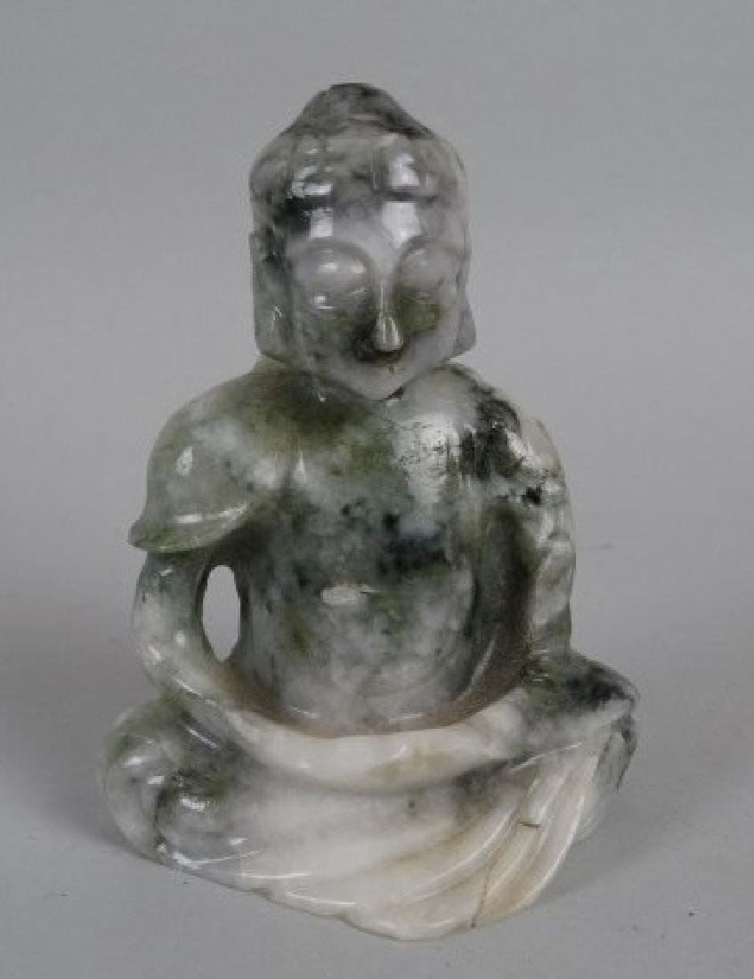 Finely Carved Chinese Jadeite Buddha
