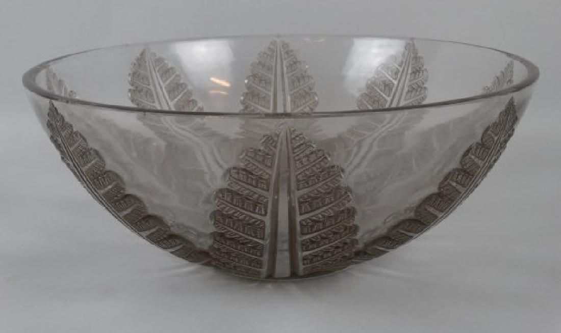 Rene Lalique Cut Crystal Punch Bowl