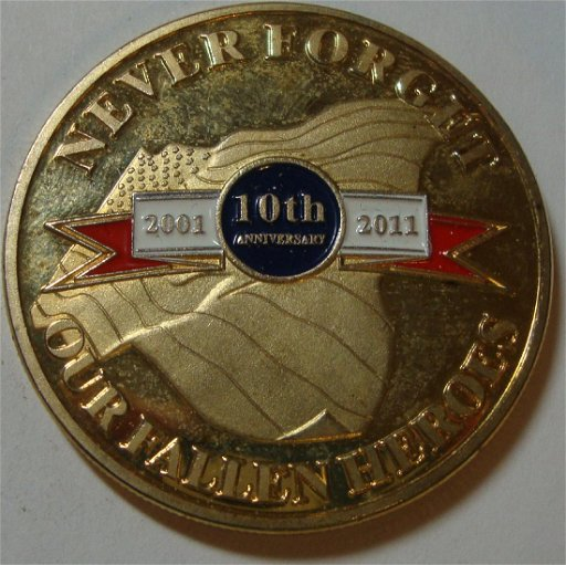 9-11 Never Forget Challenge Coin - Feb 23, 2019   Nostalgia