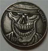 1936 Skeleton Hobo Buffalo coin