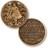 The whole armor of god Challenge coin