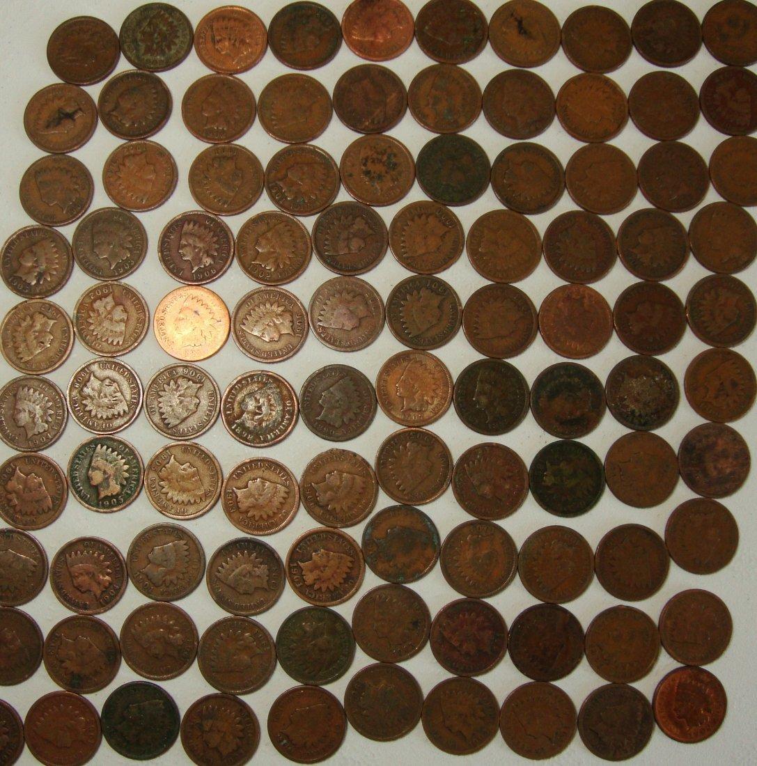 100 Indian Head Pennies