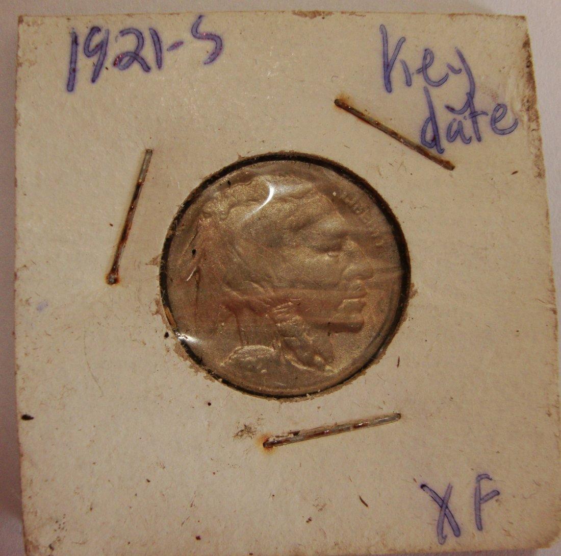 1921 S  Buffalo Nickel 5c XF